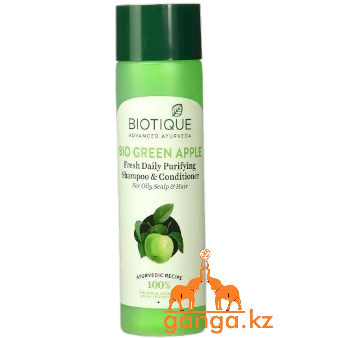 Шампунь-кондиционер для БИОТИК био зеленое яблоко (BIOTIQUE bio green apple Shampoo&Conditioner),190мл