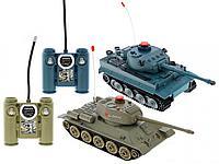 Радиоуправляемый танковый бой Т34 и Tiger 1:32 (два танка в комплекте) 2.4G