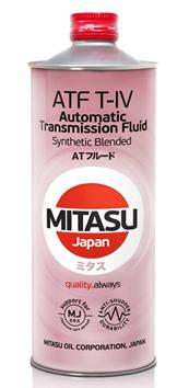 Трансмиссионное масло для АКПП  MITASU ATF T-IV Synthetic Blended для автомобилей TOYOTA LEXUS, DAIHATSU 1L