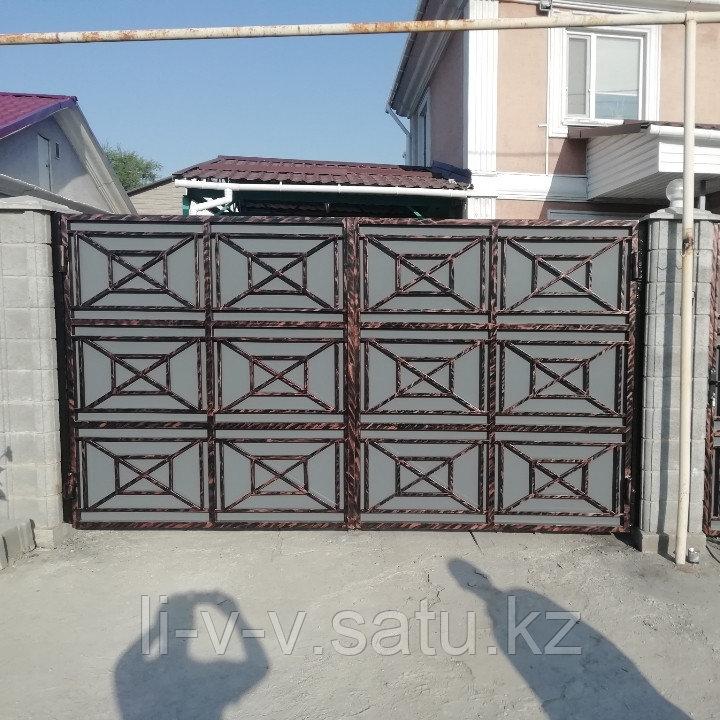 Ворота и калитка металлические