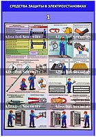 """Плакат """"Средства защиты в электроустановках"""""""