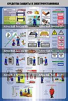 """Плакат """"Средства защиты в электроустановках"""" ABS"""