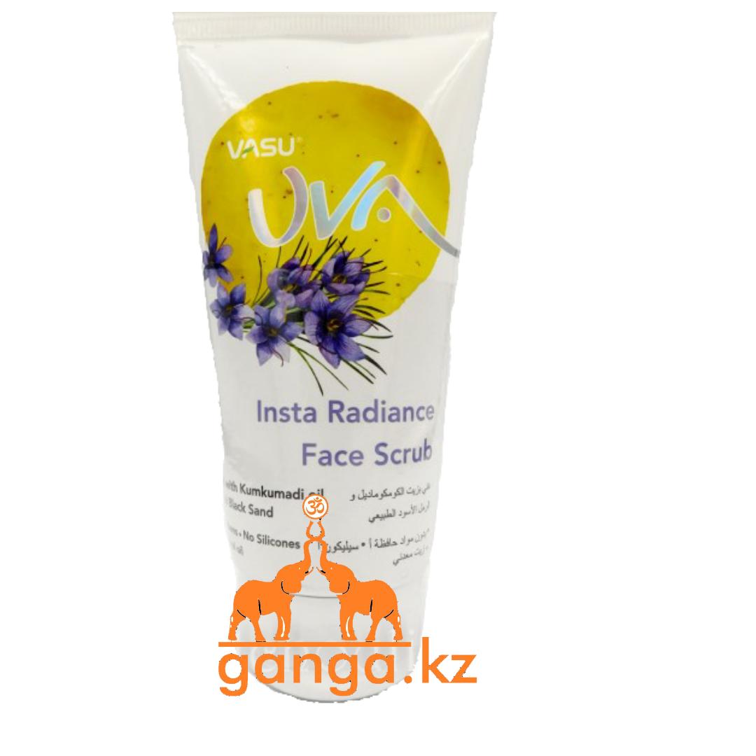 Скраб для лица Инста сияние с маслом Кумкумади и натуральным черным песком (Insta Radiance Face Scrub), 150 мл