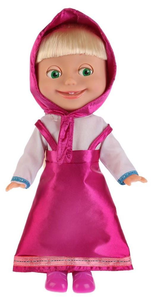 """Кукла Маша в классическом наряде """"Маша и Медведь"""" 12 песен, 30 см."""