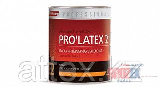 Краска интерьерная латексная, моющаяся PARADE PRO`LATEX E2 база А глубокомат. (0,9 л)