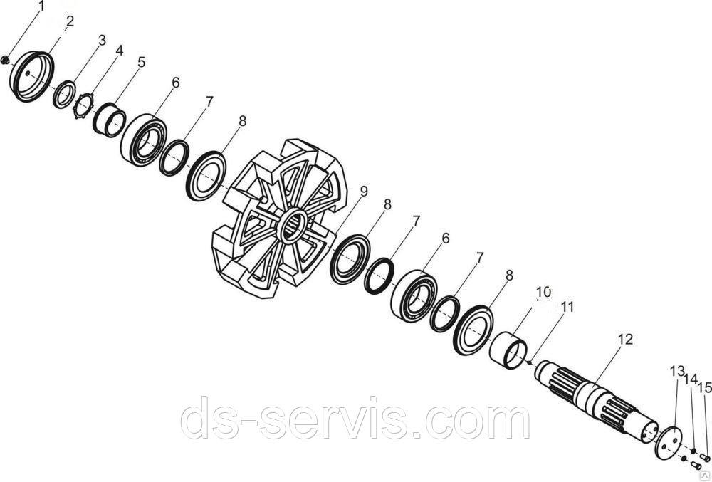 Вал ведущего колеса крана ДЭК-251 25.03.00.001