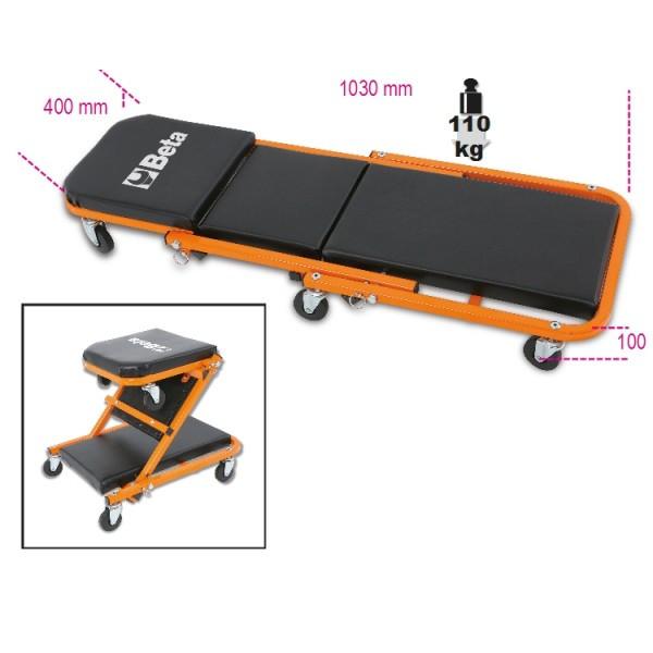 Сиденье с колёсами 2 в 1 тележка подкатная и сиденье