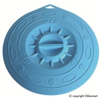 Крышка Silikomart Ø295 мм. силикон, голубая, UFO/029F, 72.290.22.0062