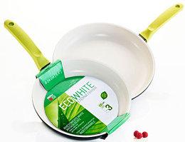 Сковорода 20 см., керамическая, литой алюминий 5мм, RISOLI EcoWhite, Eterna White 00103EW/20EW