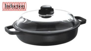 Сотейник 24 см., с крышкой, литой алюминий 7мм, индукция, RISOLI Induction Titanium 00099IN/24TP