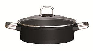 Сотейник 24 см., с крышкой, индукция, RISOLI Gusto Teflon Platinum DuPont 01099GUIN/24