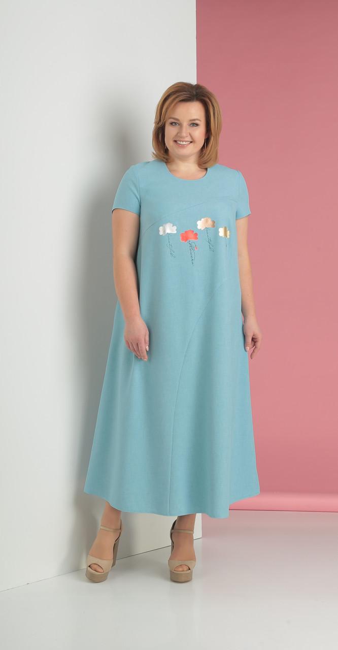 Платье Novella Sharm-3201, голубые тона, 60
