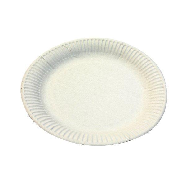 Тарелка d 230мм, 250г/м2, белая, мелованная картон, 500 шт