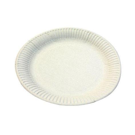 Тарелка d 230мм, 250г/м2, белая, мелованная картон, 500 шт, фото 2