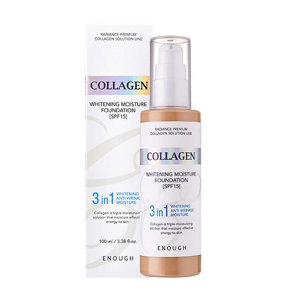 Enough Тональный крем 3 в 1 осветляющий Collagen Whitening Foundation / 13 тон (Светлый)