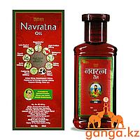 Масло для массажа головы и тела Навратна, (Navratna oil EMAMI), 100 мл.