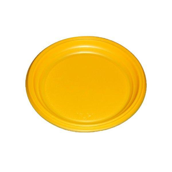Тарелка d 205мм, жёлт., ПС, 2000 шт