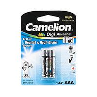 CAMELION LR03-BP2DG Батарейка Digi Alkaline, AAA, 1.5V, 1250mAh, 2 шт., Блистер