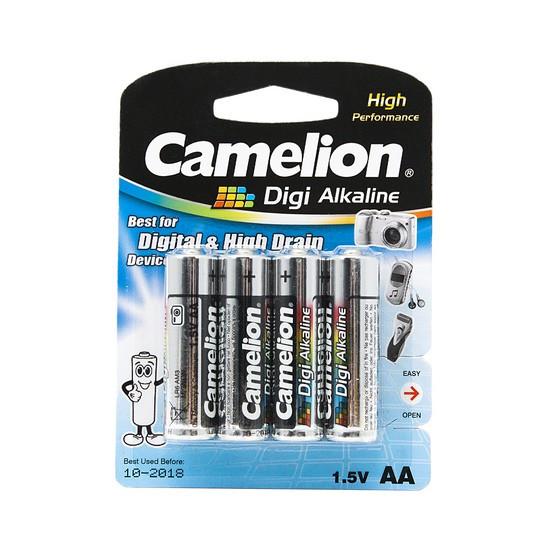 CAMELION LR6-BP4DG Батарейка Digi Alkaline AA, 1.5V, 2800mAh, 4 шт., Блистер