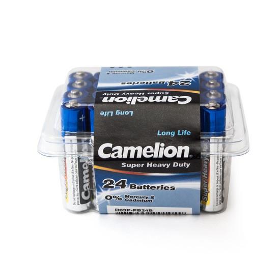 CAMELION R03P-PB24B Батарейка Blue Series Super Heavy Duty, AAA, 1.5V, 550 mAh, 24 шт. в пластиковом кейсе