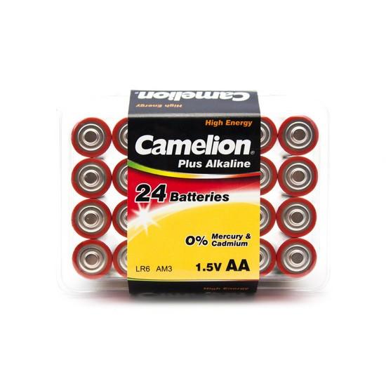 CAMELION LR6-PB24 Батарейка Plus Alkaline, AA, 1.5V, 2800 mAh, 24 шт., Пластиковый кейс