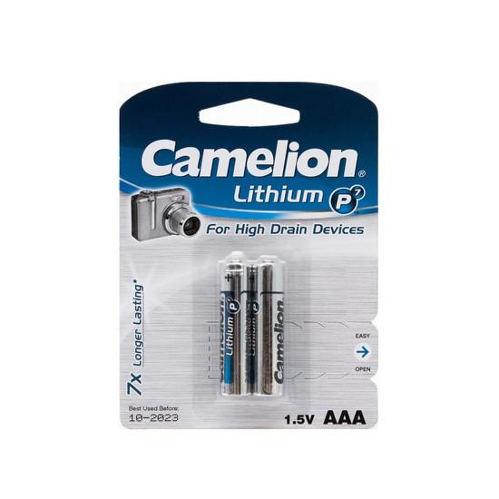 CAMELION FR03-BP2 Батарейка Lithium P7 AAA, 1.5V, 1250 mAh, 2 шт. в блистере