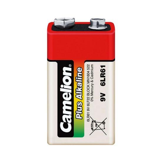 CAMELION 6LR61-BP1 Батарейка Plus Alkaline 6F22(крона), 9V, 680 mAh, 1 шт., Блистер