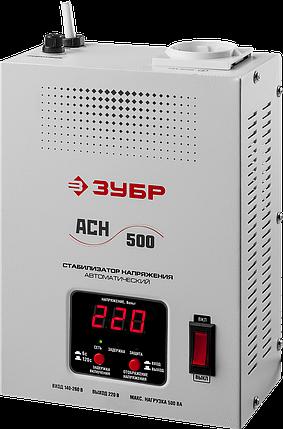 Стабилизатор напряжения, 0.5 кВА, 140-260 В, навесной, ЗУБР, фото 2