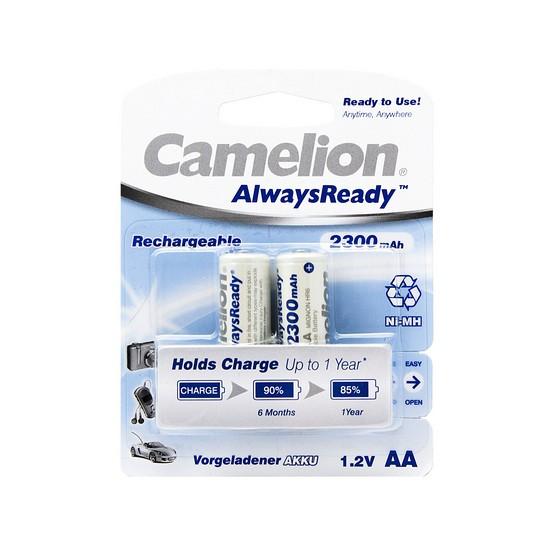 CAMELION NH-AA2300ARBP2 Аккумуляторная батарейка AlwaysReady Rechargeable, AA, 1.2V, 2300 mAh, 2 шт. в блистер