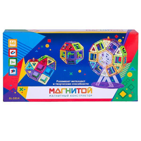 Магнитой  Конструктор магнитный Колесо обозрения (46 деталей, 8 - с окном)