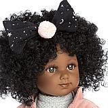 LLORENS: Кукла Зури 35см, мулатка в розовом жакете и черной кружевной юбке 53526, фото 2