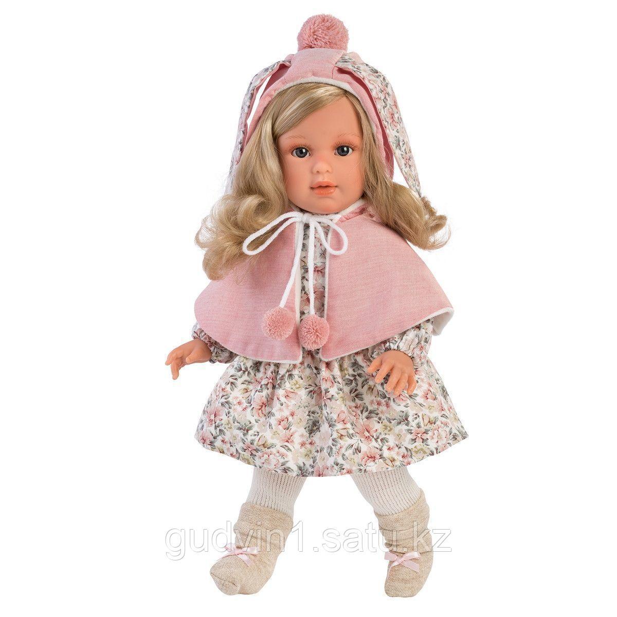 LLORENS: Кукла Лючия 40см, блондинка в розовой пелерине 1102612