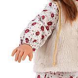 LLORENS: Кукла Мартиная 40см, шатенка в мехавом жилете и шапочке 54026, фото 4