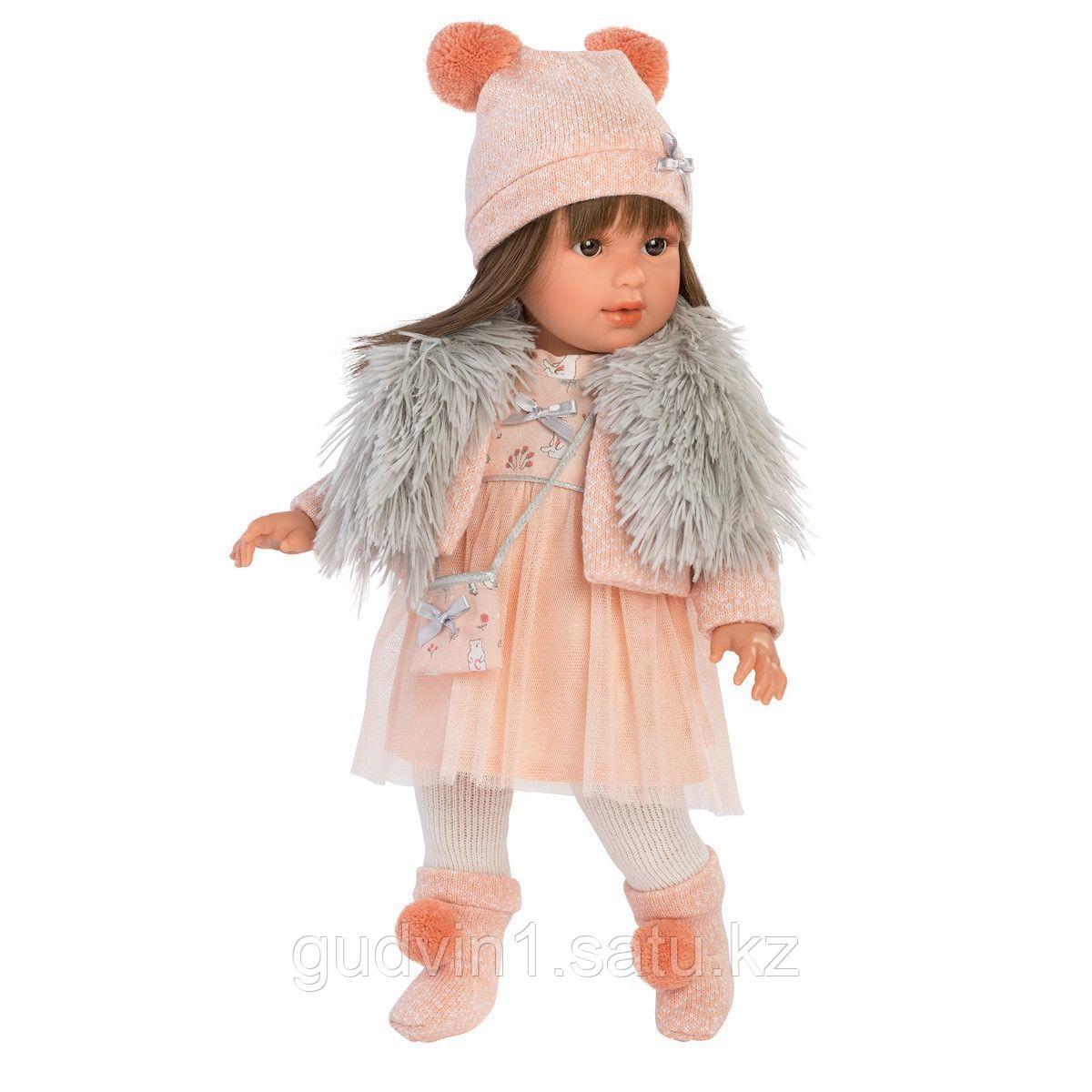 LLORENS: Кукла Лети 40см, брюнетка в меховой накидке 1102614
