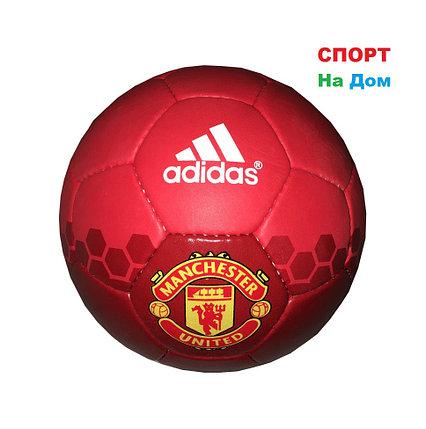 Футбольный мяч Кожа ADIDAS & Manchester (реплика), фото 2