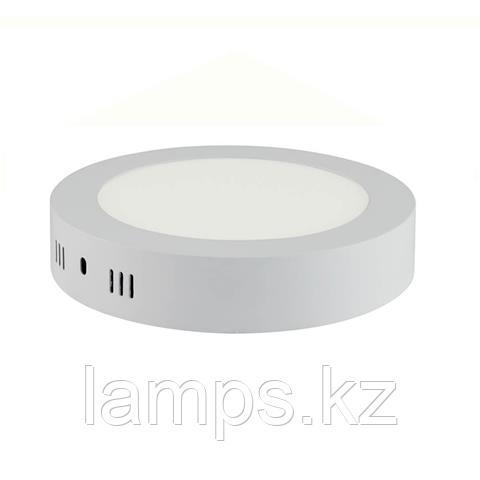 Панель светодиодная накладная круглая CAROLINE-12 12W белый 4200K