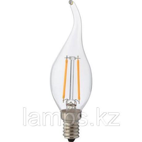 Светодиодная Лампа Эдисона декоративная FILAMENT FLAME-2 2W 4200K, фото 2