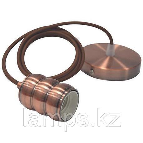 Декоративный подвесной патрон Е27 GAUSS красная медь 1M, фото 2
