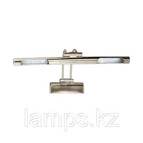 Светильник светодиодный для подсветки зеркала KUMRU матовый хром, с встроенным электронным трансформатором, фото 2