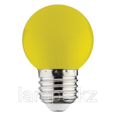 Светодиодная лампа LED RAINBOW 1W 6400K желтый, фото 2
