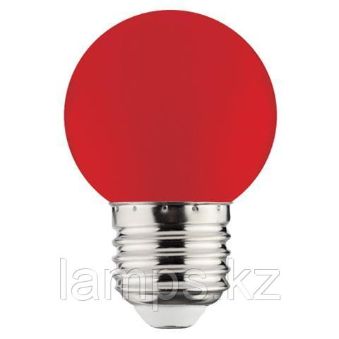 Светодиодная лампа LED RAINBOW 1W 6400K красный