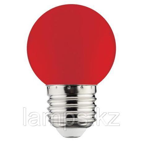 Светодиодная лампа LED RAINBOW 1W 6400K красный, фото 2