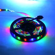 Светодиодная лента пылевлагозащищенная, цветная REN 5M RGB