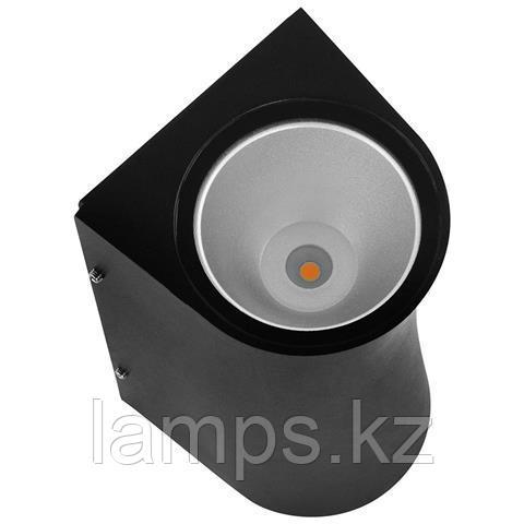 Уличный настенный светодиодный светильник, пылевлагозащищенный SERVI 12W черный 4200K
