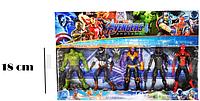 Мстители (Avengers) набор фигурок (Капитан Америка,Человек Паук, Халк, Чёрная пантера, Танос)