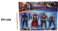 Мстители (Avengers) набор фигурок (Капитан Марвел, Тор, Чёрная пантера, Танос)