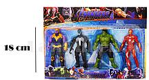 Мстители (Avengers) набор фигурок (Халк, Веном, Железный человек, Танос)
