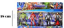 Мстители (Avengers) набор фигурок (Халк, Веном, Железный человек, Танос, Тор)