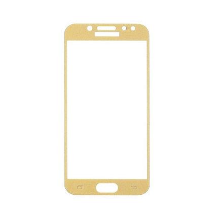 Защитное стекло Samsung J3 2017, Samsung J330 2017, Окантовка Gold A-Case, фото 2