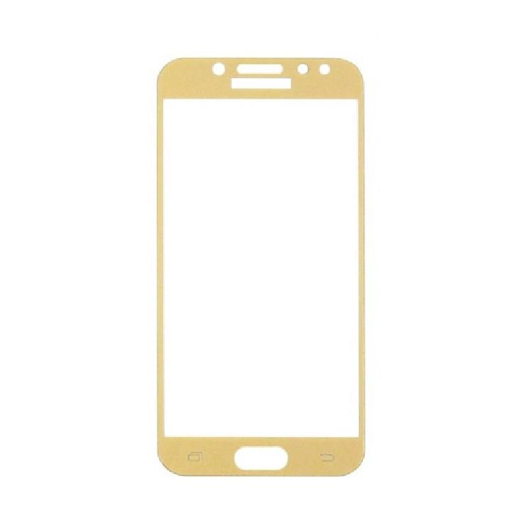 Защитное стекло Samsung J3 2017, Samsung J330 2017, Окантовка Gold A-Case